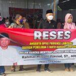 Reses DPRD Lampung : Bangun SMKN, Solusi RMD Buat Warga GAN