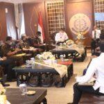 Jaksa Agung Terima Kunjungan Kerja Menkopolhukam Mahfud MD Bicarakan Penanganan Tipikor