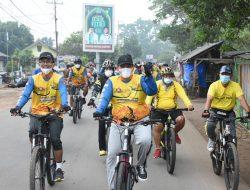 Wakil Bupati Lampung Timur, Gowes Bareng Komunitas Sepeda Kecamatan Sekampung