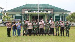 Jalin Sinergitas TNI-Polri, Kapolres Lamtim Kunjungi Kodim 0429/Lamtim