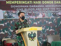 Peringati Hari Donor Darah Sedunia,Kodim 0429/Lamtim Gelar Gerakan 1000 Kantong Darah