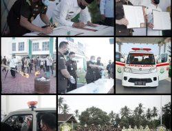 Peringati Hari Bhakti Adhyaksa Ke-61, Kejari Pringsewu Berikan Ambulance Ke Pemkab