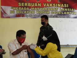 Kodim 0429 Lampung Timur Kembali Gelar Serbuan Vaksinasi Covid-19 Lansia Tahap II