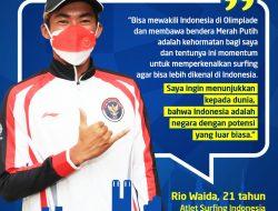 Rio Waida Pembawa Bendera Tim Indonesia di Olimpiade Tokyo 2020
