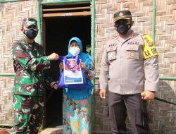 Sigap! Duet Dandim 0429 dan Kapolres Lampung Timur Berikan Bantuan 400 Paket Sembako
