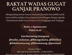 Rakyat Wadas Menggugat Ganjar Pranowo