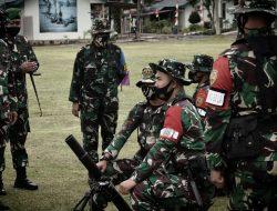 Danpussenif Kodiklat TNI-AD Pantau Latihan Tembak Prajurit